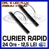 DRL 9-LED Flux - 298mm x 31mm - DAYTIME RUNNING LIGHT - LUMINI DE ZI, Universal, ZDM