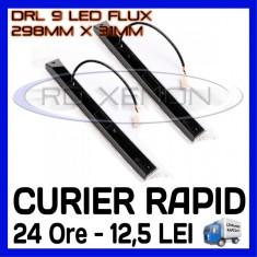 DRL 9-LED Flux - 298mm x 31mm - DAYTIME RUNNING LIGHT - LUMINI DE ZI