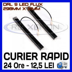 DRL ZDM 9-LED Flux - 298mm x 31mm - DAYTIME RUNNING LIGHT - LUMINI DE ZI, Universal