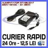 SURSA - ALIMENTATOR STABILIZAT 12V - 3A AMPERI - PENTRU BANDA LED RGB 150 SMD, ZDM