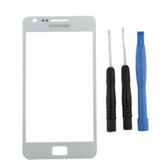 Sticla Display Fata Samsung Galaxy S2 i9100 ALB + kit ustensile + folie ecran - Display LCD