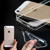 Husa iPhone 5 5S SE TPU 0.3mm Transparenta, iPhone 5/5S/SE, Transparent, Gel TPU, Apple