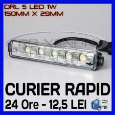DRL 5-LED 1W - 150mm x 29mm - DAYTIME RUNNING LIGHT - LUMINI DE ZI
