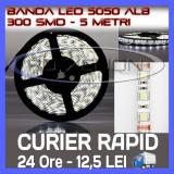 Cumpara ieftin ROLA BANDA 300 LED - LEDURI SMD 5050 ALB (ALBA, ALBE) - 5 METRI, IMPERMEABILA (WATERPROOF), FLEXIBILA