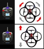 DRONA PROFESIONALA CU TEHNOLOGIE 2,4GHZ SI AFISAJ LCD,TELECOMANDA FULL CONTROL,LEDURI SENZATIONALE,39 CM,FACE LOOPING URI.
