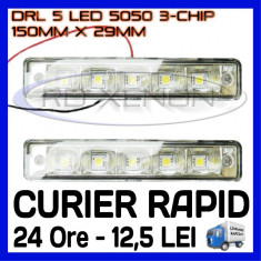 DRL ZDM 5-SMD 5050 - 150mm x 29mm - DAYTIME RUNNING LIGHT - LUMINI DE ZI, Universal