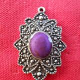 Elegant si Delicat Medalion Vintage Finut si de Efect avand patina frumoasa