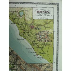 HARTA VECHE - ITALIA - DIN ATLAS GEOGRAFIC 1924