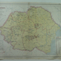 HARTA VECHE - HARTA MINIERA A ROMANIEI MARI - DIN ATLAS GEOGRAFIC 1924