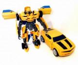 ROBOT TRANSFORMERS CE SE TRANSFORMA IN MASINA IN CATEVA CLIPE.JUCARIE SUPER., Plastic, Unisex