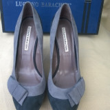 LUCIANO BARACHINI Pantofi Fashion Platforma, Toc Stiletto,  100%  Piele,  Grafit