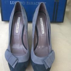 LUCIANO BARACHINI Pantofi Fashion Platforma, Toc Stiletto, 100% Piele, Grafit - Pantof dama, Culoare: Gri, Marime: 37, Cu toc
