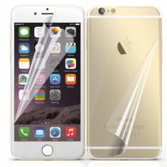 Folie iPhone 6 Plus 6S Plus Fata Spate Transparenta - Folie de protectie Apple, Lucioasa