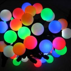SUPER INSTALATIE CRACIUN CHERRY LED CU 50 LEDURI SMD PROFESIONALE, FULL COLOR! CASA, FIRME, MAGAZINE! - Instalatie electrica Craciun