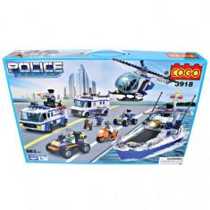 MEGA SET CONSTRUCTIE DIN PIESE TIP LEGO DE LA COGO.SET URIAS COGO POLICE 862pcs. - Set de constructie