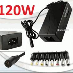 INCARCATOR UNIVERSAL LAPTOP 120W 12 - 24 V - Incarcator Laptop