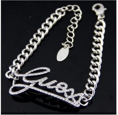 Bratara Fashion  - GUESS - Litere - Argintiu foto