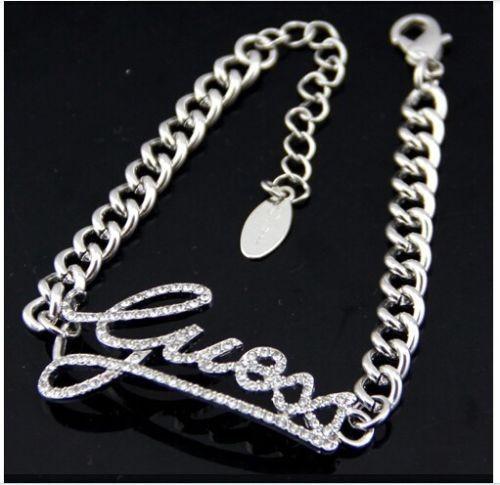 Bratara Fashion  - GUESS - Litere - Argintiu