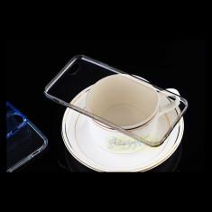 Husa iPhone 6 Plus 6S Plus TPU 0.3mm Transparenta Black - Husa Telefon Apple, Gel TPU, Fara snur, Carcasa