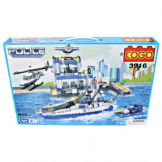SET CONSTRUCTIE TIP LEGO DE LA COGO, URIAS CU 644 PIESE, POLITIA IN ACTIUNE! - Set de constructie