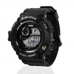 Ceas SKMEI S-SHOCK Multifunctional Dual Time LCD LED , ALARMA , Rezistent la Apa ! Barbatesc Sport
