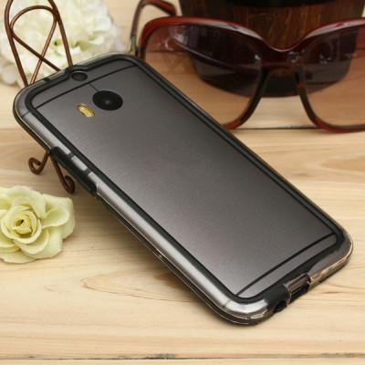 Bumper HTC ONE M8 Transparent Black foto