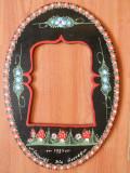 Rama foto Pictata manual, motiv floral.Port Sasesc,saseasca. Amintire din Govora