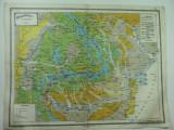 HARTA VECHE - HARTA AGRONOMICA A ROMANIEI MARI - DIN ATLAS GEOGRAFIC ANUL 1924
