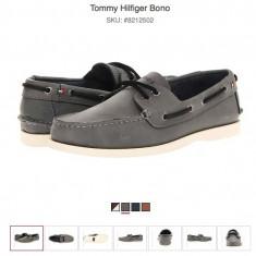 Tommy Hilfiger Bono - pantofi de piele marime 43EU (10US) - Mocasini barbati Tommy Hilfiger, Culoare: Gri