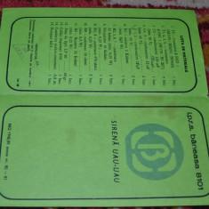 CARTE TEHNICA - SIRENA UAU-UAU - IPRS BANEASA 8101