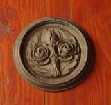 Ornament / piesa din lemn sculptata motiv floral pentru mobila veche !