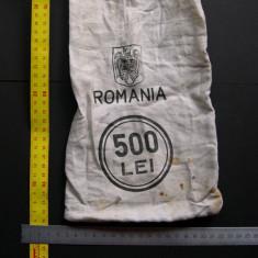 Sac (saculet) de banca 500 lei Romania BNR