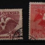 1949 cehoslovacia mi 599-600 stampilate