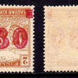 Ocupatia in Timisoara - Temeswar 1919 - EROARE SUPRATIPAR RANVERSAT -  MNH