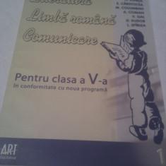 LITERATURA LIMBA ROMANA COMUNICARE CLASA V CAIET DE LUCRU - Manual scolar, Clasa 5