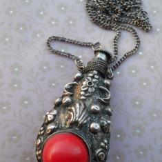 MEDALION vechi STICLA de PARFUM spectaculos VECHI vintage EXCEPTIONAL splendid