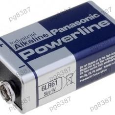 Baterie 6F22, 6LR61, alkalina, 9V, Panasonic-050051
