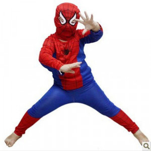 PROMOTIE! COSTUM SPIDERMAN COMPLET+2 STATII WALKIE TALKIE SPIDERMAN! PARTY,CARNAVAL...