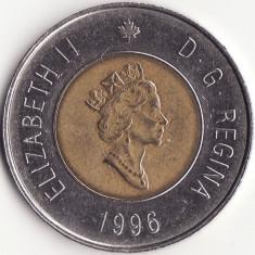 Canada - 2 Dollars 1996 - Elisabeta a II-a - Al treilea portret, America de Nord