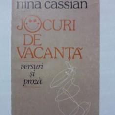 Jocuri de vacanta - Nina Cassian (ilustratiile autoarei) / C15P - Carte poezie