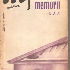 (C5320) MEMORII DE IORGU IORDAN VOL 3, EDITURA EMINESCU, 1979, Alta editura