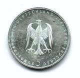 GERMANIA 5 MARCI MARK 1977 LITERA G HEINRICH VON KLEIST ARGINT STARE EXCELENTA