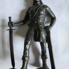 RARA! FIGURINA RUSEASCA PLASTIC(15 CM) OSTAS IVAN CEL GROAZNIC, FABRICATA IN ANII 70 - Miniatura Figurina