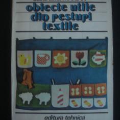 DOINA SILVIA MARIAN - OBIECTE UTILE DIN RESTURI TEXTILE - Carte design vestimentar