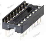 Soclu pentru CI, 16 pini, pas pini 2,54mm - 128605