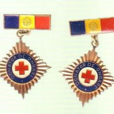 Lot insigne Donator de onoare difetite