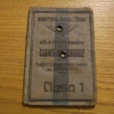 CARNET DE IDENTITATE - Sotia Functionarului Public - Caile Ferate Romane -1921 - Pasaport/Document, Romania 1900 - 1950