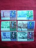 Serie- Jocuri Olimpice Mexico 1968 Iordania , 6 val. stamp.