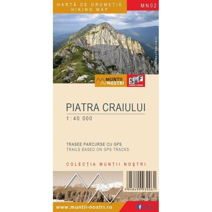 Schubert & Franzke Harta Muntii Nostri Harta Muntilor - Piatra Craiului MN02