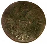 S1. AUSTRIA FRANZ / FRANC II 3 KREUZER 1800 S, 8.75 g., Copper **